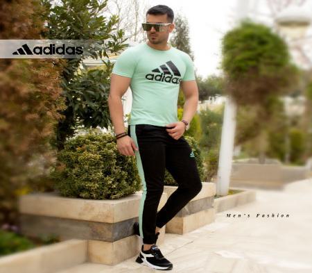 ست تیشرت و شلوار adidasمدل Atro(سبز)