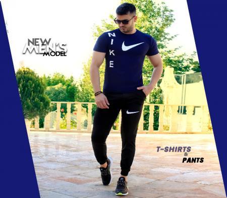 ست تیشرت شلوار Nike مدل Giant (سورمه ای)